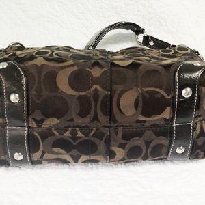 "Coach Bags - Coach optic signature ""Carly"" shoulder bag"